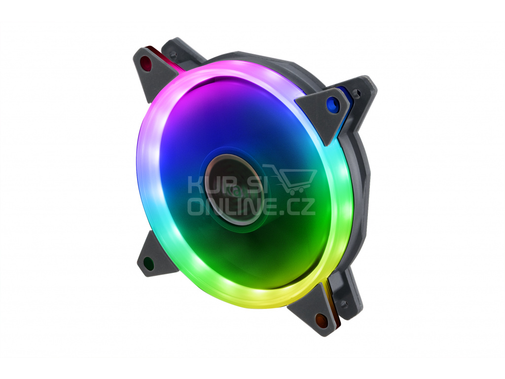 přídavný ventilátor Akasa Vegas AR7 LED12 cm RGB, AK-FN099