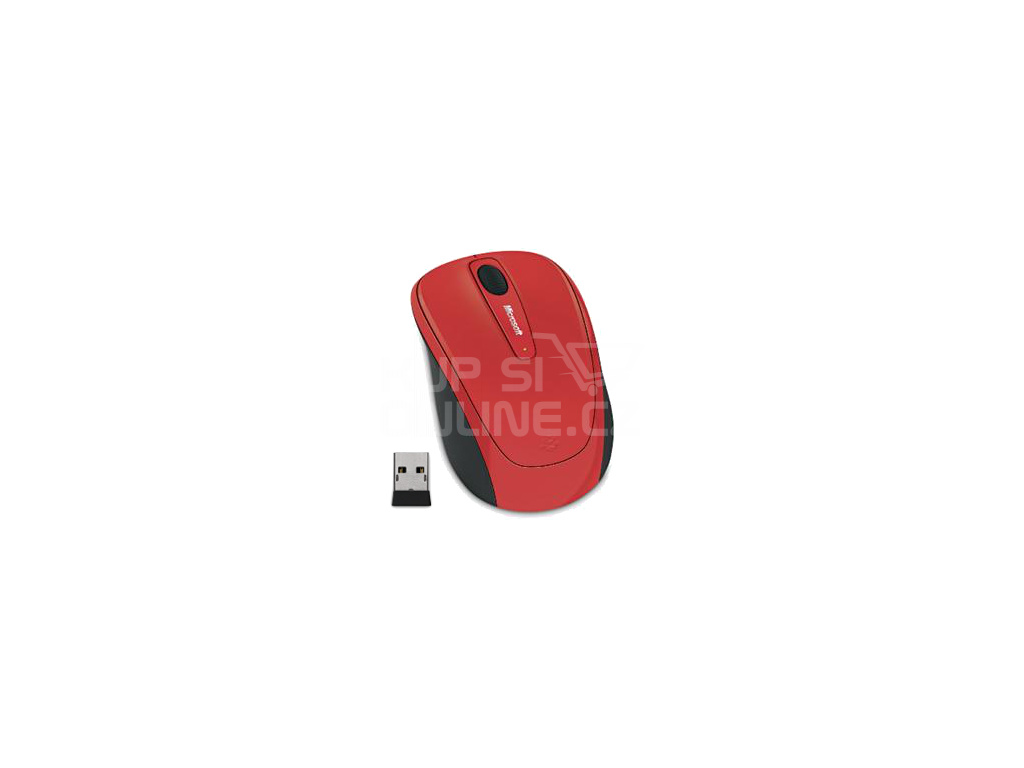 Microsoft Wireless Mobile Mouse 3500, flame red gloss, GMF-00293
