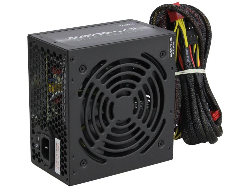 Zalman zdroj ZM500-LXII / 500W / ATX / akt. PFC / 120mm ventilátor, ZM500-LXII