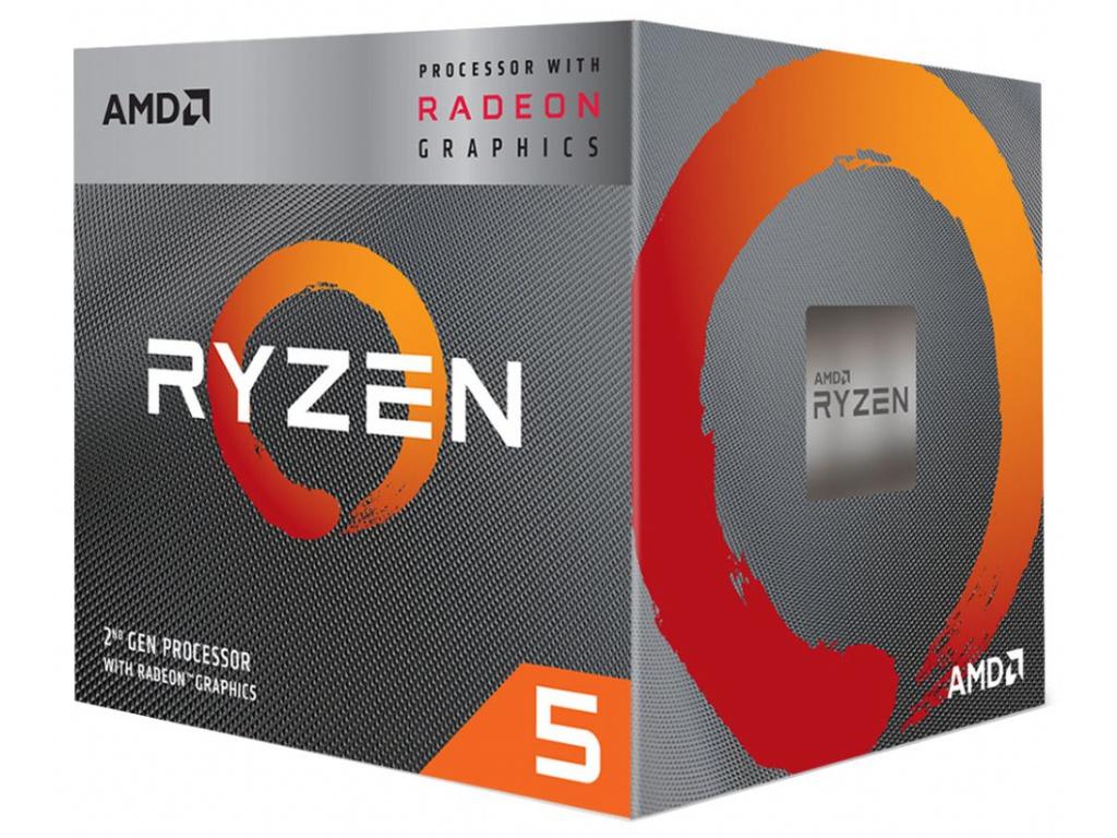 AMD Ryzen 5 3400G AM4 / max. 4,2GHz / 4C/8T / 6MB / 65W TDP / RX Vega 11 / BOX, YD3400C5FHBOX