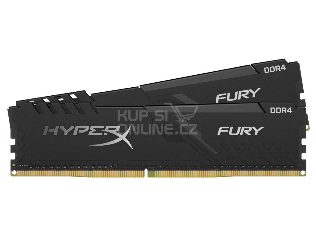 KINGSTON HyperX FURY 16GB DDR4 3200MHz / DIMM / CL16 / černá / KIT 2x 8GB, HX432C16FB3K2/16