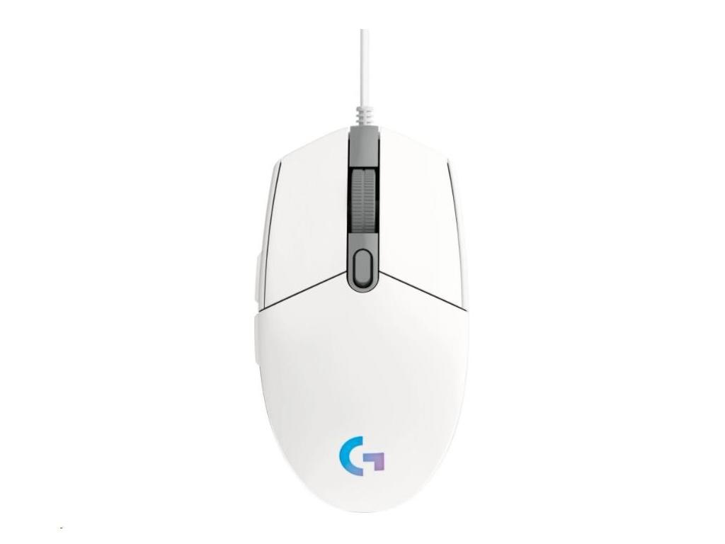 Logitech herní myš G102 2nd Gen LIGHTSYNC Gaming Mouse, USB, EER, White, 910-005824