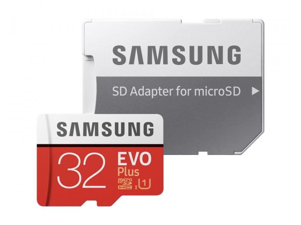 Samsung Micro SDHC karta 32GB EVO Plus + SD adaptér, MB-MC32GA/EU