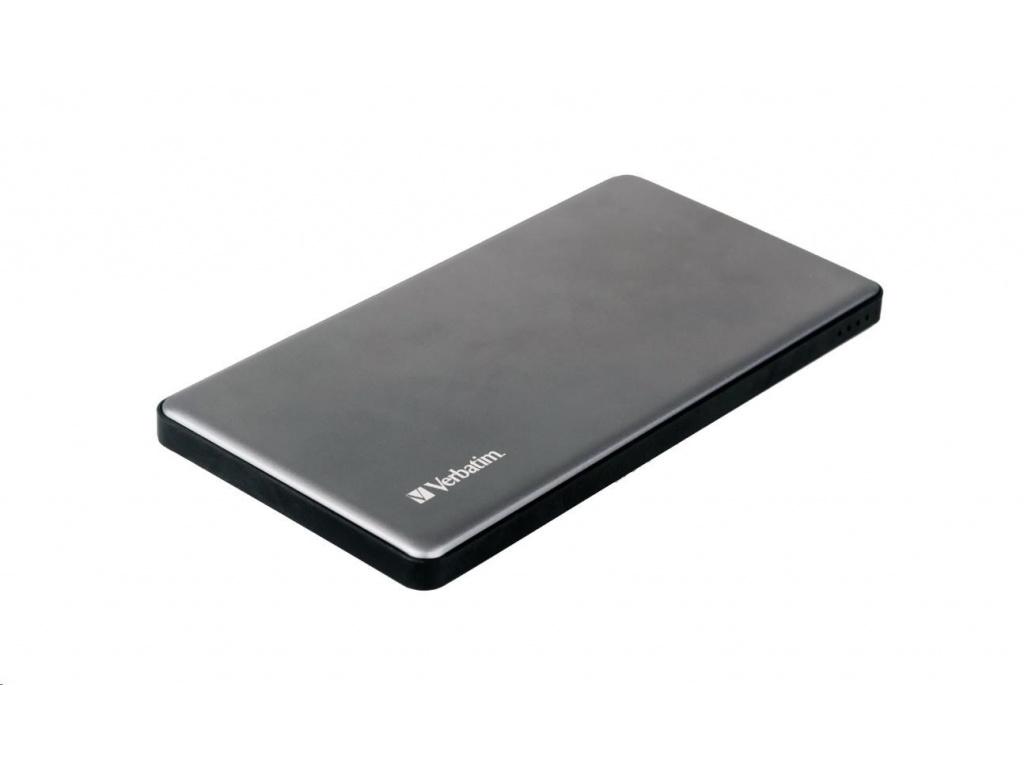 VERBATIM Powerbanka 5000mAh 2x USB-A, kovová