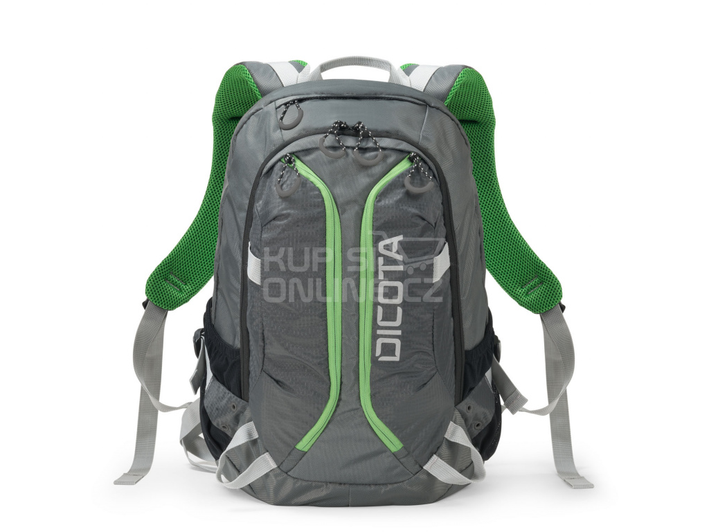 Dicota Backpack Active 14-15.6 grey/lime, D31221