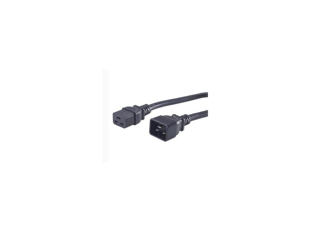 PremiumCord Kabel síťový prodlužovací 230V 16A 3m, konektory IEC 320 C19 - IEC 320 C20, kpsa