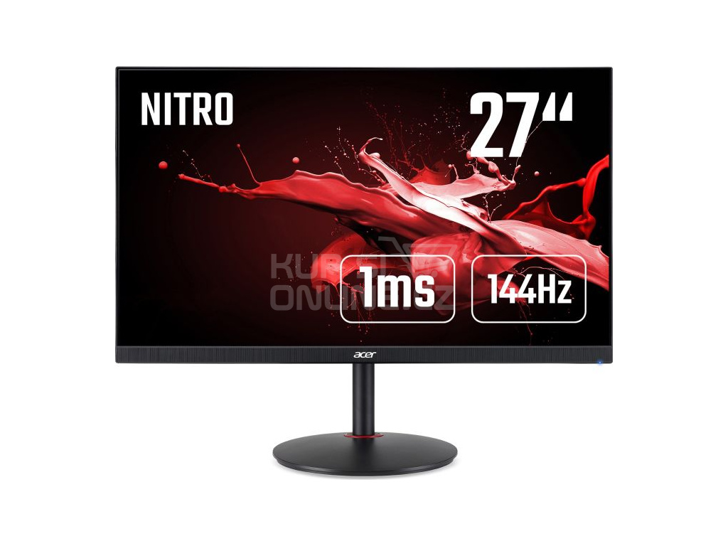 27'' Acer Nitro XV272UP - IPS, 2560x1440@144Hz, 1ms, 350cd/m2, 16:9, HDMI, DP, USB, výška, pivot, FS, UM.HX2EE.P01