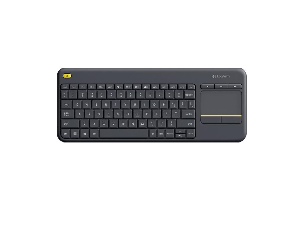 Logitech Wireless Touch Keyboard K400 plus, USB,US, 920-007145