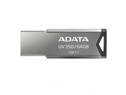 64GB ADATA UV350 USB 3.1 silver (potisk), AUV350-64G-RBK