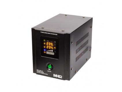 Záložní zdroj MHPower MPU500-12,UPS,500W, čistá sinus, MPU-500-12