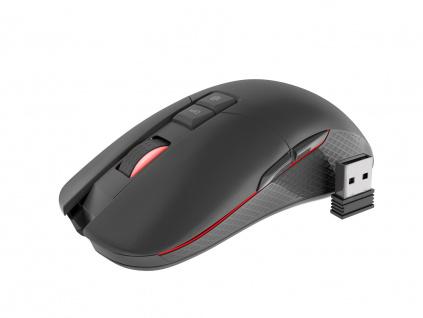Bezdrátová herní myš Genesis Zircon 330, 3600 DPI, vestavěná dobíjecí baterie