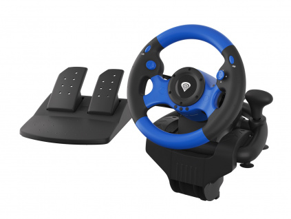 Genesis Seaborg 350 Herní volant, multiplatformní pro PC, PS4, PS3, Xbox One, Switch, 180°, NGK-1566