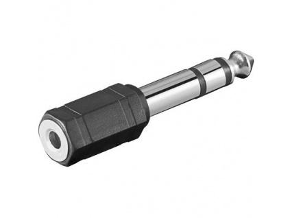 PremiumCord Adaptér stereo jack 6.3 - 3.5 M/F, kjr-25