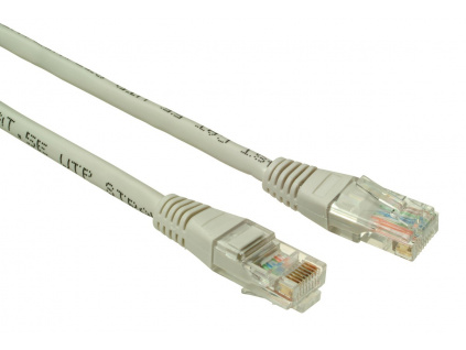 SOLARIX patch kabel CAT5E UTP PVC 1m šedý non-snag proof, C5E-155GY-1MB