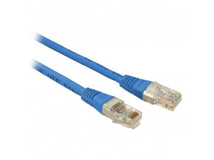 SOLARIX patch kabel CAT5E UTP PVC 0,5m modrý