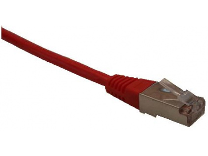 Patch cord FTP cat5e 0,25M červený,