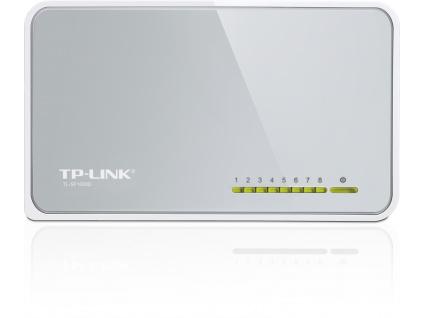 TP-Link TL-SF1008D 8x 10/100Mbps Desktop Switch, TL-SF1008D