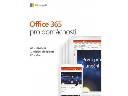 Office 365 Home 32-bit/x64 CZ pronájem P4, 6GQ-00898