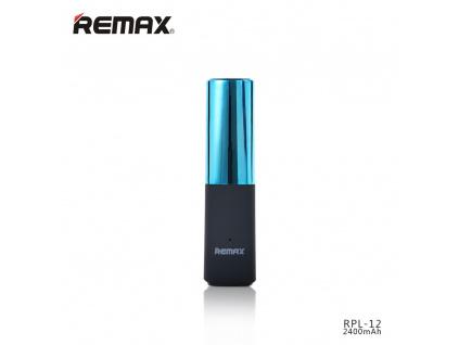 Power bank 2400mAh, Remax Lipstick, barva modrá