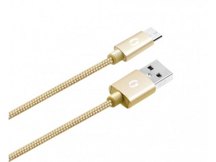 ALIGATOR PREMIUM Datový kabel 2A, Micro USB zlatý, DATKP03