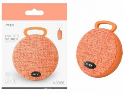 Bluetooth Mini Speaker PLUS K3566 orange, 8435350735692