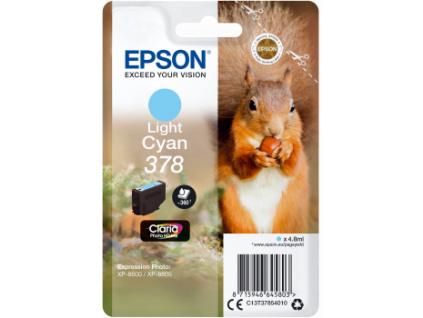 Epson Singlepack LightCyan 378 Claria Photo HD Ink