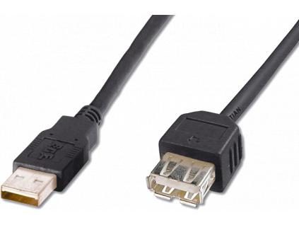 Kabel USB prodlužovací A-A, 2 m, černý, HAA2251