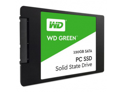 "WDC GREEN PC SSD WDS120G2G0A 120GB 2.5"" 7mm (545/430MB/s, 37000/63000 IOPs, SSD, SLC 3D NAND)"