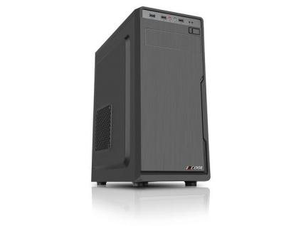 1stCOOL MiddleTower JAZZ 1, ATX black černý, bez zdroje, middletower ATX (2xUSB3+ Audio) (PC case), MD-JAZZ1-AU-USB3
