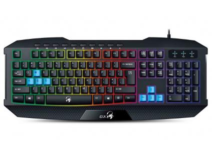 GENIUS GX GAMING Scorpion K215/ Herní drátová klávesnice/ podsvícená/ USB/ černá/ CZ+SK layout, 31310474106