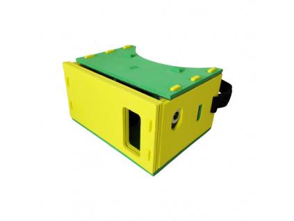 """PANOBOARD Foam Edition VR pěnové brýle pro virtuální realitu pro telefony  do 5,7"""" / žluto-zelené"""
