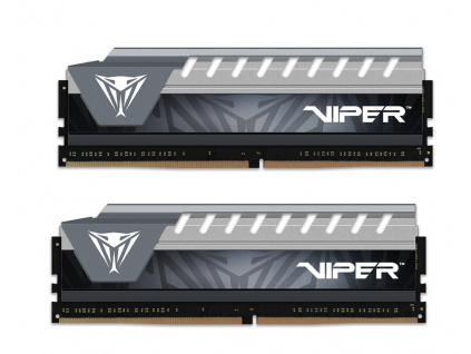 PATRIOT Viper Elite Grey 8GB DDR4 2666MHz / DIMM / CL16 / Heat shield / KIT 2x 4GB, PVE48G266C6KGY