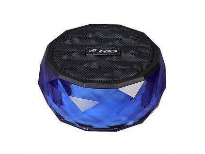 FENDA F&D repro W3/ modré/ bezdrátové/ 3W/ BT4.0/ multibarevné podsvícení/ MicroSD