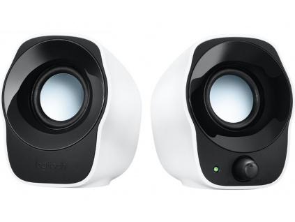 LOGITECH repro Stereo Speakers Z120/ 2.0/ 1,2W/ 3.5 mm jack/ USB/ bílé