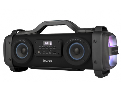 NGS STREET BREAKER/ BOOMBOX/ BT repro/ 2.2 system 200W/ LED/ Karaoke/ FM rádio/  Černý