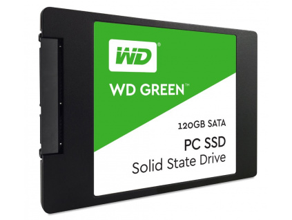"WD SSD GREEN 120GB / WDS120G2G0A / SATA 6Gb/s / Interní 2,5"" / 3D NAND / 7mm"