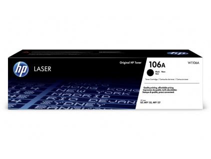 HP toner 106A (černý, 1 000str.) pro HP Laser 107a, 107w, HP Laser MFP 135a, 135w, W1106A