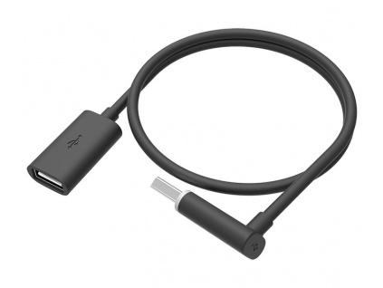HTC prodlužovací kabel USB 2.0/ zástrčka A - zásuvka A/ černý / 45cm /zahnutý konektor pro pohodlné připojení, 99H20279-00