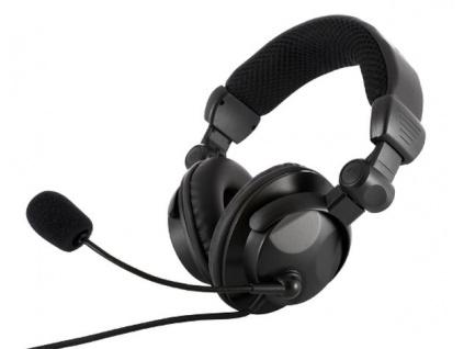 Modecom MC-826 HUNTER headset, herní sluchátka s mikrofonem, černá, S-MC-826-HUNTER