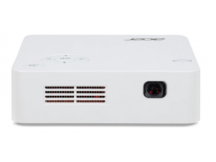 Acer C202i LED, WVGA (854x480), 300 ANSI, 5000:1,HDMI, repro 1x1W, 0.35kg, zabudovaná baterie