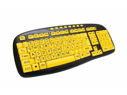 C-TECH CZ/SK KB-103MS USB, multimediální, (Velká písmena, Pro seniory)