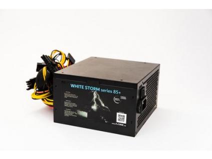 1stCOOL zdroj 350W WHITE STORM 350 85+ s aktivnim PFC, ventilátor 120mm (zdroj do PC case), ECP-350A-12-85