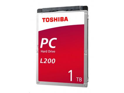"""TOSHIBA HDD L200 Laptop PC (SMR) 1TB, SATA III, 5400 rpm, 128MB cache, 2,5"""", 7mm, BULK, HDWL110UZSVA"""
