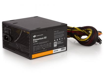 SilentiumPC zdroj 350W / Elementum E2 / 120mm fan / Akt. PFC / 80PLUS EU / Bulk balení, SPC196