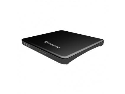 TRANSCEND externí DVD vypalovačka slim, USB 2.0, Black (+CyberLink Media Suite 10), TS8XDVDS-K