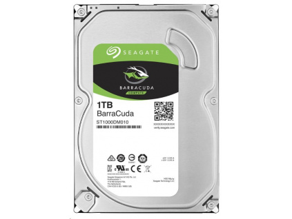 SEAGATE HDD BARRACUDA 1TB SATAIII/600 7200RPM, 64MB cache, ST1000DM010