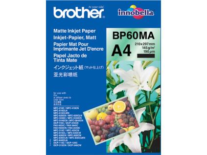 BP60MA, 25 listů, inkoustový papír Brother, matný, 145 g