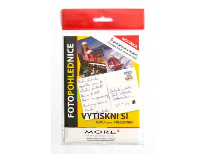 Fotopohlednice 250g/m2, 10x15 cm, glossy, 5ks/bal, M10562
