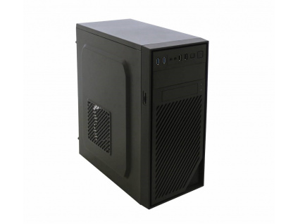 EUROCASE skříň ML X404 black, 2x USB, 2x audio, bez zdroje