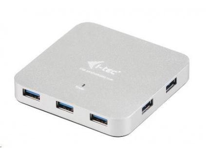iTec USB 3.0 Hub 7-Port Metal s napájecím adaptérem, U3HUBMETAL7